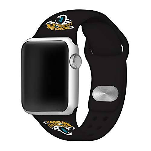 Game Time Jacksonville Jaguars Silicone Sport Band Compatible with Apple Watch - Band ONLY (42mm/44mm) ()