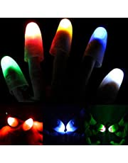 4X(2 Pair) Magic Light up Flashing Led Thumbs Fingers Trick Appearing Light Close up