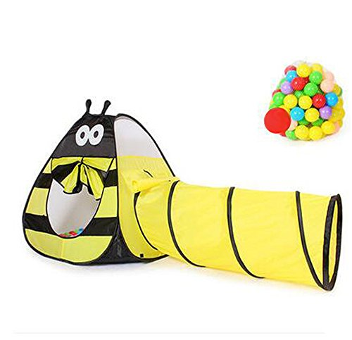 Biscount Pop-Up Play Tent Lovely Bee Tunnel Indoor & Outdoor