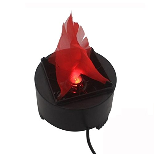 110V Electric Fire Flame Lamp Light LED Simulated Flame Effect Light Torch Light Stage Lamp Prop for Stage Performance, Bar, Night Clubs, Back Yard, Halloween Christmas Party Decoration by -