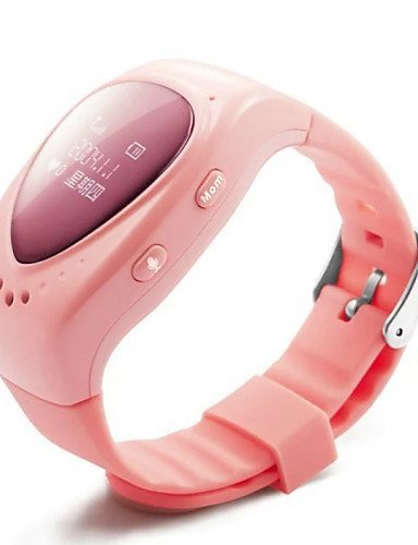 New 2015 High Quality Kid Children Smart Watch for Children's Safety with WiFi+LBS+GPS Three Mode of Positioning , pink