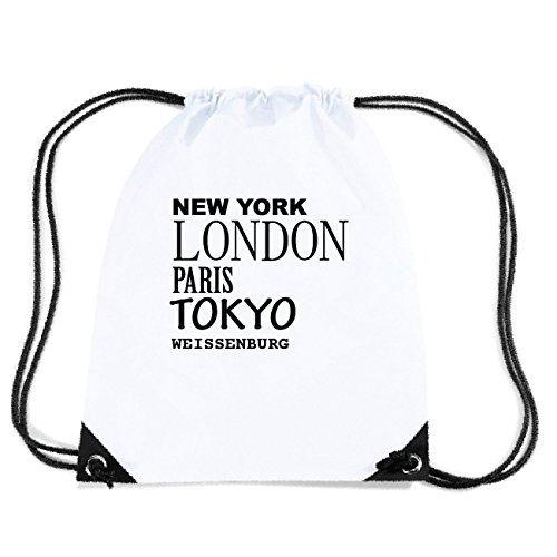 JOllify WEISSENBURG Turnbeutel Tasche GYM1734 Design: New York, London, Paris, Tokyo