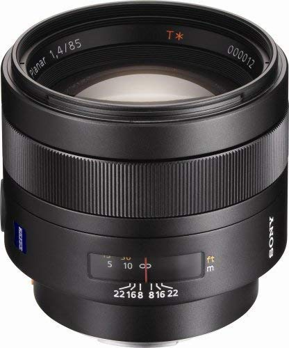 Sony SAL-85F14Z 85mm f1.4 Carl Zeiss Planar T Coated Telephoto Lens for Sony Alpha Digital SLR Camera (Certified Refurbished) (Carl Zeiss Planar T 85mm F1 4)