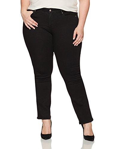 Levi's Women's Plus Size 414 Classic Straight Jean's, Soft Black, 36 (US 16) S by Levi's