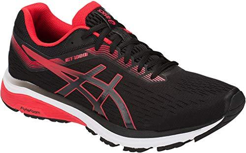 ASICS New Men's GT-1000 7 Running Shoe Black/Red Alert 14