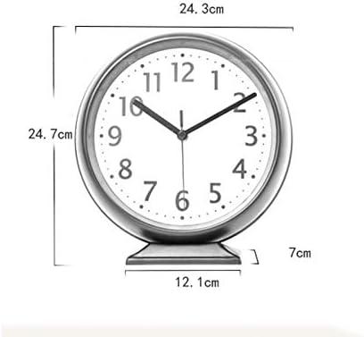 Color : Green Quiet Analog Quartz Home Decor Living Room Kitchen Mantel Clock Hkwshop Table Clock Modern Clock Battery Operated Non-ticking Clock Mute