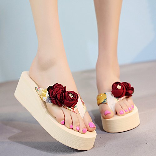 moda flip aire beach flops antideslizante zapatillas de abrazaderas libre inferior seaside calzado al grueso damas b verano FLYRCX de wF4qnAtF7