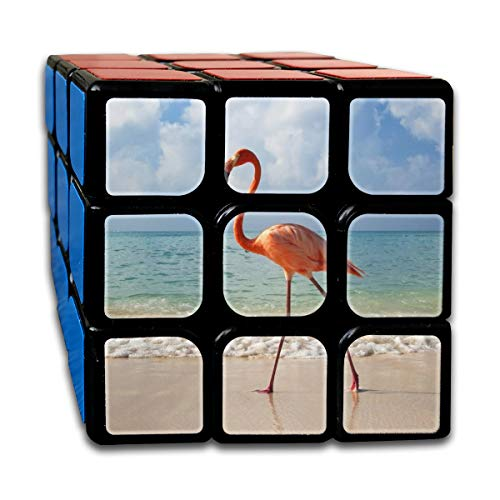 Partrest Flamingo at The Beach Rubik Cube Super-Durable with Vivid Colors 5.5x5.5 Cube Easy Turning and Smooth Play Magic Cube Puzzle -