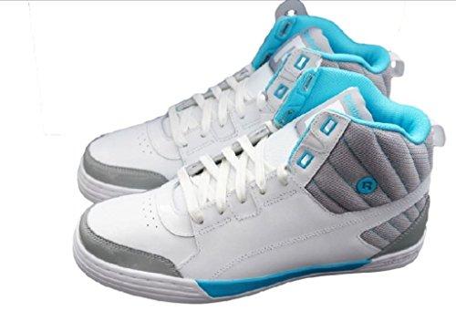 Reebok Herren Schuh SH MAJESTIC MID , White/Grey , V47512 (UK 9 1/2)