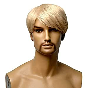 11/'/' Short Messy Spiky Bronze Brown Synthetic Cosplay Wig NEW