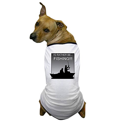 CafePress - I'd Rather Be Fishing!!! Dog T-Shirt - Dog T-Shirt, Pet Clothing, Funny Dog Costume (Dog Graduation Costume)