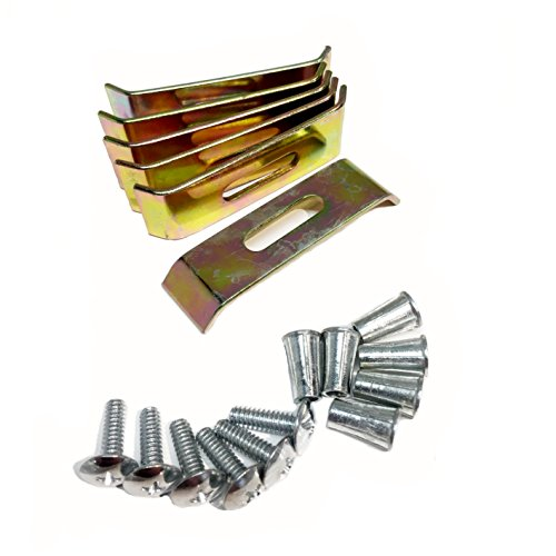 (6011 11 Sink Clips - Undermount Sink Brackets, Supports - Dowell Sink Clips - 6 Pack Kit - Kitchen Sink Clips - Sink Clips - Undermount Kitchen Sink Clips)