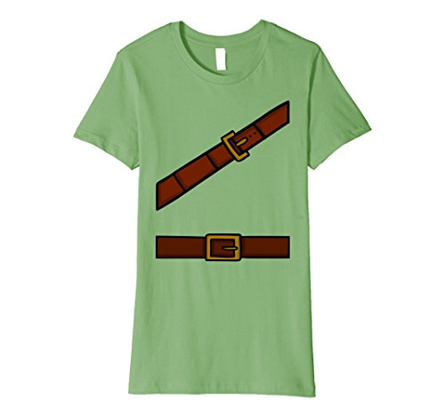 [Womens Dwarf Halloween Group Costume Idea T-Shirt Adventurer Look XL Grass] (Cute College Costume Ideas)