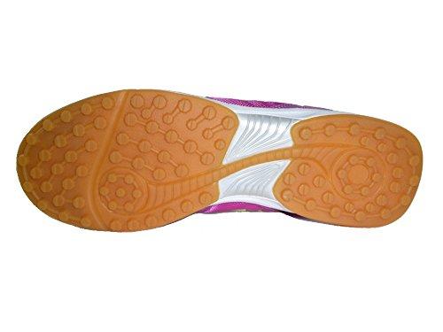 AGLA - Zapatillas de fútbol sala de Material Sintético para hombre Amarillo amarillo 27.5 fucsia