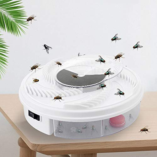 100% Effective Electric Fly Trap Device Insect Catcher Fly Trap Device Pest Control Products Household Mosquitoes Killers   USB Cable US Plug