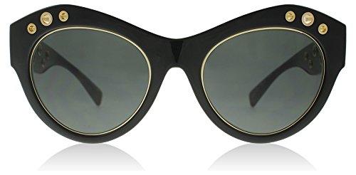 Versace Womens Sunglasses (VE4320) Black/Grey Plastic - Non-Polarized - Cat Eye Versace Glasses