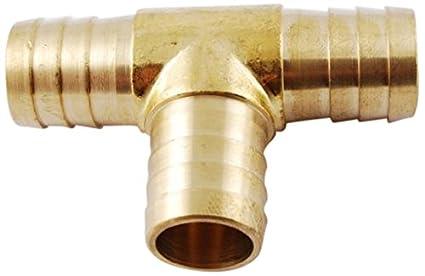 MettleAir 123-12-1PK 3//4 ID Hose Barb Tee T Union Fitting Intersection//Split Brass