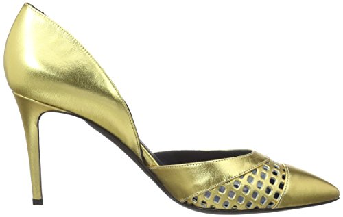 Pollini Femme Fermé Shoes Bout Gold Or Escarpins 901 wwTgH4q
