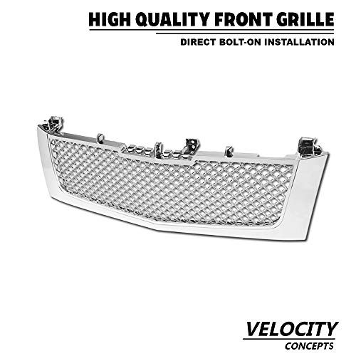 Velocity Concepts Chrome 2002-2006 Cadillac Escalade Luxury Sport Mesh Front Hood Bumper ()