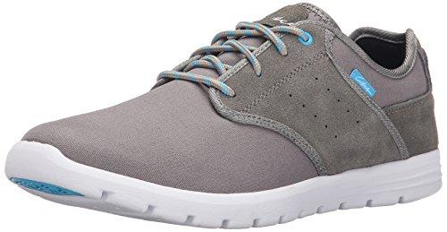 C1RCA Mens Atlas Cushioned Lightweight Non Slip Skate Shoe Gray/White