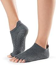 ToeSox Women's Low Rise Half Toe Grip Non-Slip for Ballet, Yoga, Pilates, Barre Toe S