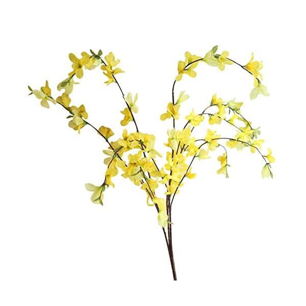 MARJON FlowersWinter Jasmine Artificial Flowers Fake Flower for Home Table Bedroom Office Decoration (Yellow)