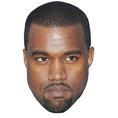 Kanye West Celebrity Mask, Cardboard Face and Fancy Dress Mask