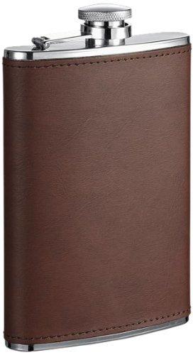 【通販激安】 Visol Kenton Visol Leatheretteステンレススチールヒップフラスコ、8-ounce Visol、ブラウンby Visol Kenton B01N3LF2WH, 板前魂 匠の台所:dfa2cbd5 --- vezam.lt