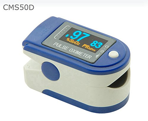 Contec Portable Sports and Aviation Finger Pulse Oximeter OX Spo2 Fingertip Oxygen Digital OLED Monitor Display, CE FDA Approved (Blue) by CONTEC