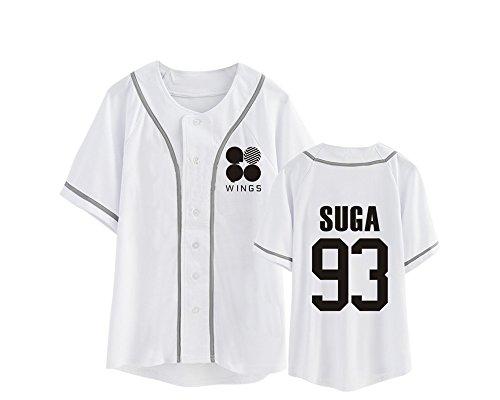 Top Bts Lovers Girocollo Camicie Manica Tshirt Boys Kpop Bangtan Maglietta Unisex White9 Tayaho Popolare Corta wAxEP7RWq
