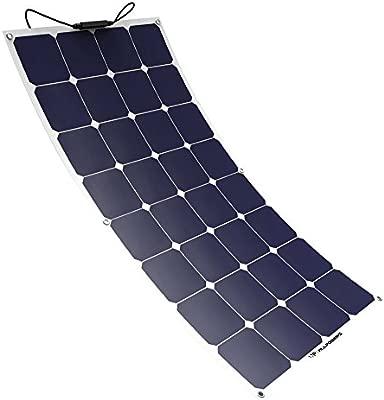 ALLPOWERS Panel Solar 100W 18V 12V Sunpower de Panel Solar Célula Solar Ideal para Cargar de 12 Volt de Baterías