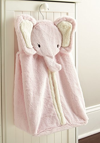 Levtex Home Baby Diaper Stacker, Pink Elephant