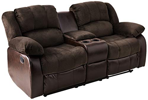 - NHI Express Aiden Motion Loveseat & Console (1 Pack), Peat