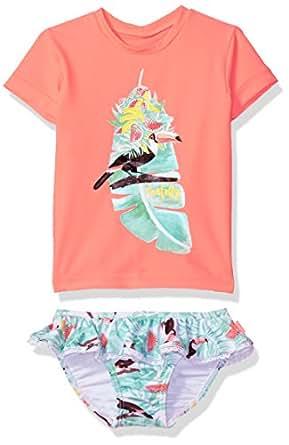 Seafolly Toddler Girls' Touci Frutti S/s Rashie Set, Wmelonpink, 0