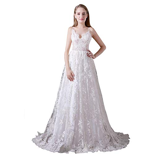 YUEZHIMENG Haute Couture Women's Wedding Lace Strapless Elegant Temperament Princess Wedding Dress Adult/Children Dress Evening Dress,US18W