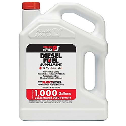 Power Service 01128-04 Diesel Fuel Supplement Anti-Gel with Concentrated Cetane Boost Formula - 1 Gallon