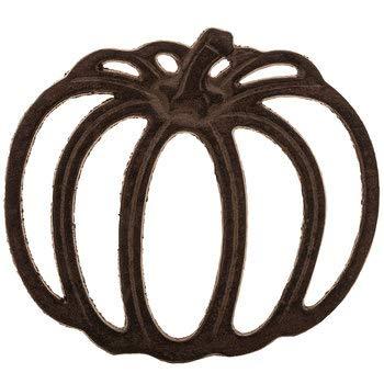 Heavy Cast Iron - Trivet Stand - Shape Like a Punpkin - Primitive Look - Bronze Rustic Color Finish - Sets on 4 Padded Legs