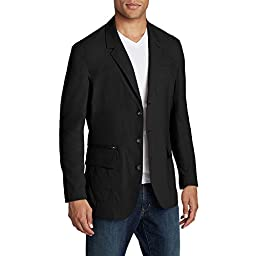 Eddie Bauer Men\'s Voyager II Travel Blazer, Black 42