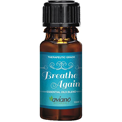 #1 Breathe Again Essential Oils Blend for Sinus Relief - Supports Allergies, Cold & Congestion Relief - 100% Pure & Therapeutic Grade by Aviano Botanicals
