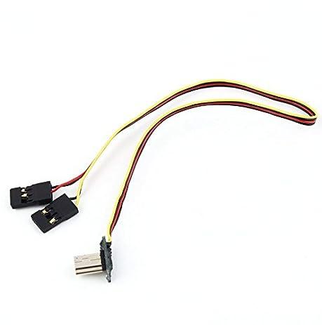 Amazon.com: Gopro Hero 3 FPV Cable 90 Degree USB to AV Video ...