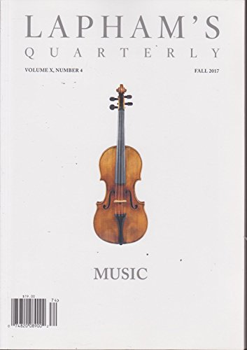 Lapham's Quarterly Magazine Fall 2017 Music