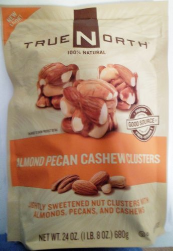 TrueNorth Almond Pecan Cashew Clusters Net Wt 24 Oz (680g) (Pack of 2) -