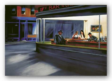 "Hip Hop Cafe by Jay Martin 24""x36"" Art Print Poster"