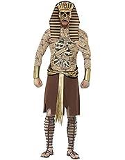 Smiffys, Zombie-Pharao kostuum, kostuum, mouwkettingen en hoofdeinde, maat: L, 40097 Large goud