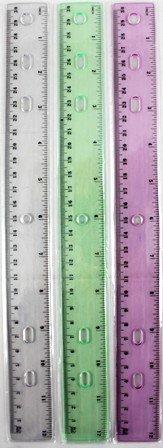 Plastic Rulers - 12'' - assorted colors boxed 288 pcs sku# 1192913MA