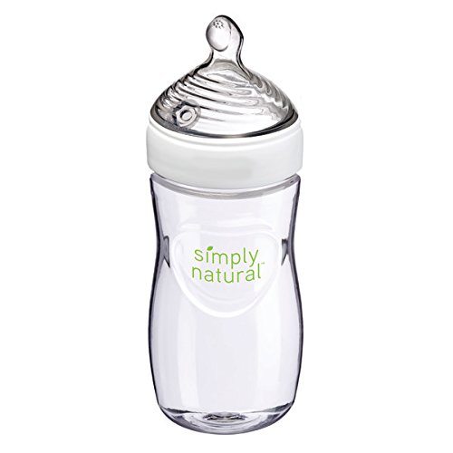 NUK Simply Nautral Baby Bottle, Clear, 9oz 1pk