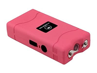 VIPERTEK VTS-880 - 260,000,000 Mini Stun Gun - Rechargeable with LED Flashlight, Pink