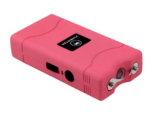 VIPERTEK VTS-880 - 30 Billion Mini Stun Gun - Rechargeable with LED Flashlight, Pink