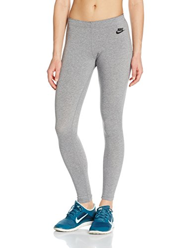 Nike Womens Leg-A-See JDI Leggings Carbon Heather/Black 726085-092 Size Small