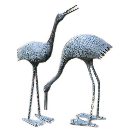 - SPI Home BS3139 Stately Garden Cranes, Sculpture Set of 2